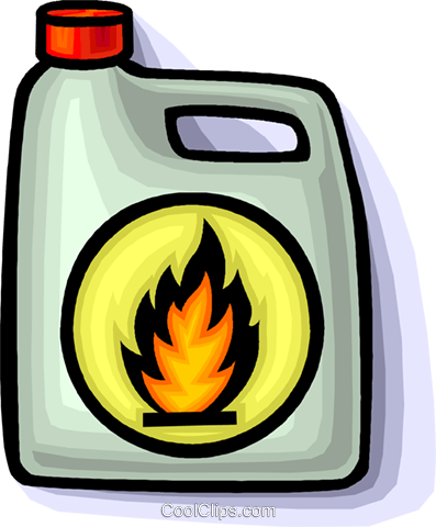 flammable material Royalty Free Vector Clip Art illustration.