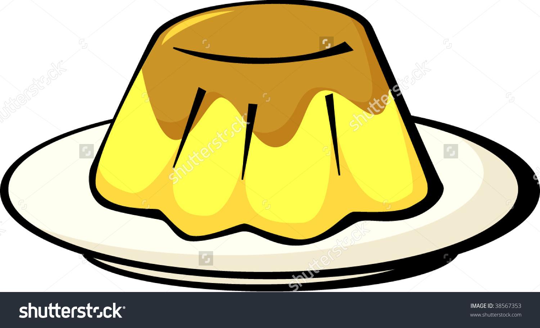 Flan Dessert Stock Vector 38567353.