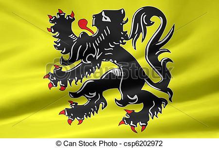 Clip Art of Flag of Flanders.
