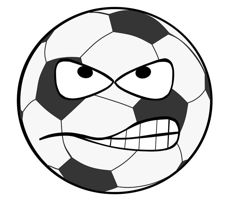 Free illustration: Football, Clip Art, Smiley, Evil.