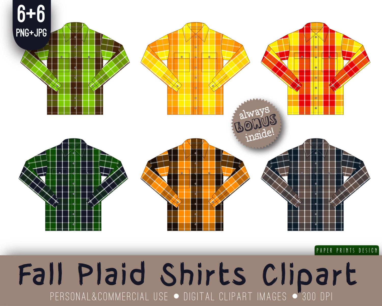 Plaid Fall Shirt Plaid Shirt Flannel Shirt Checkered Shirt by.