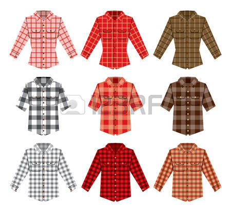 2,108 Flannel Shirt Cliparts, Stock Vector And Royalty Free.
