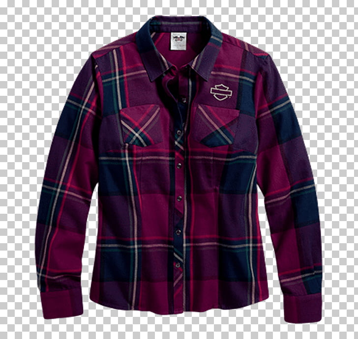 Sleeve Tartan Flannel Shirt Blouse, shirt PNG clipart.