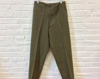 Wool army pants.