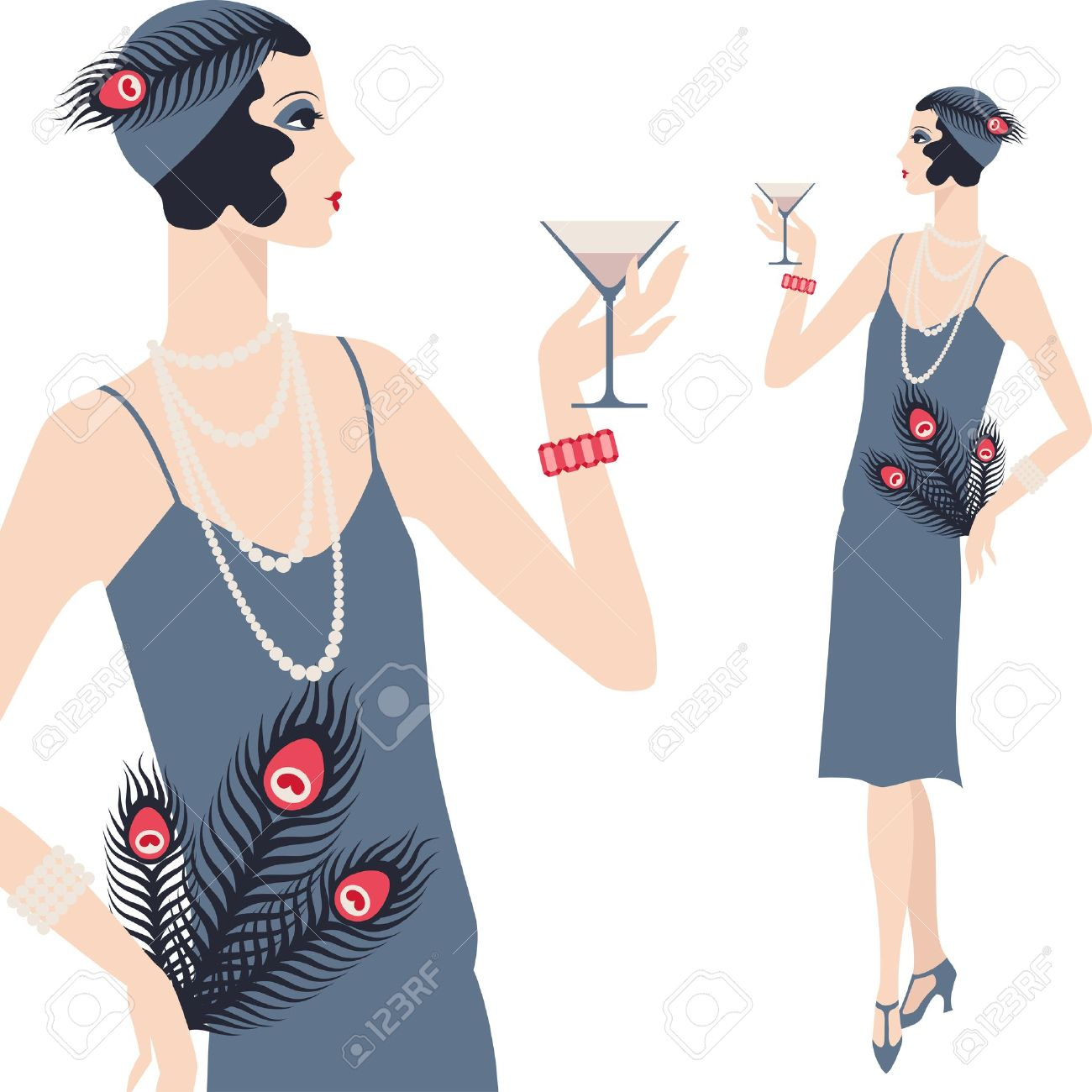 Flapper Dress Clipart 20 Free Cliparts Download Images