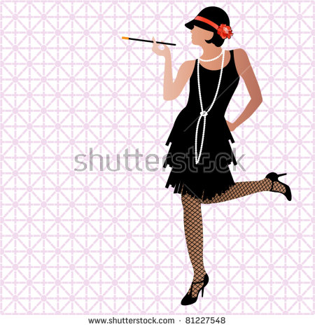 Flapper Girl Stock Images, Royalty.