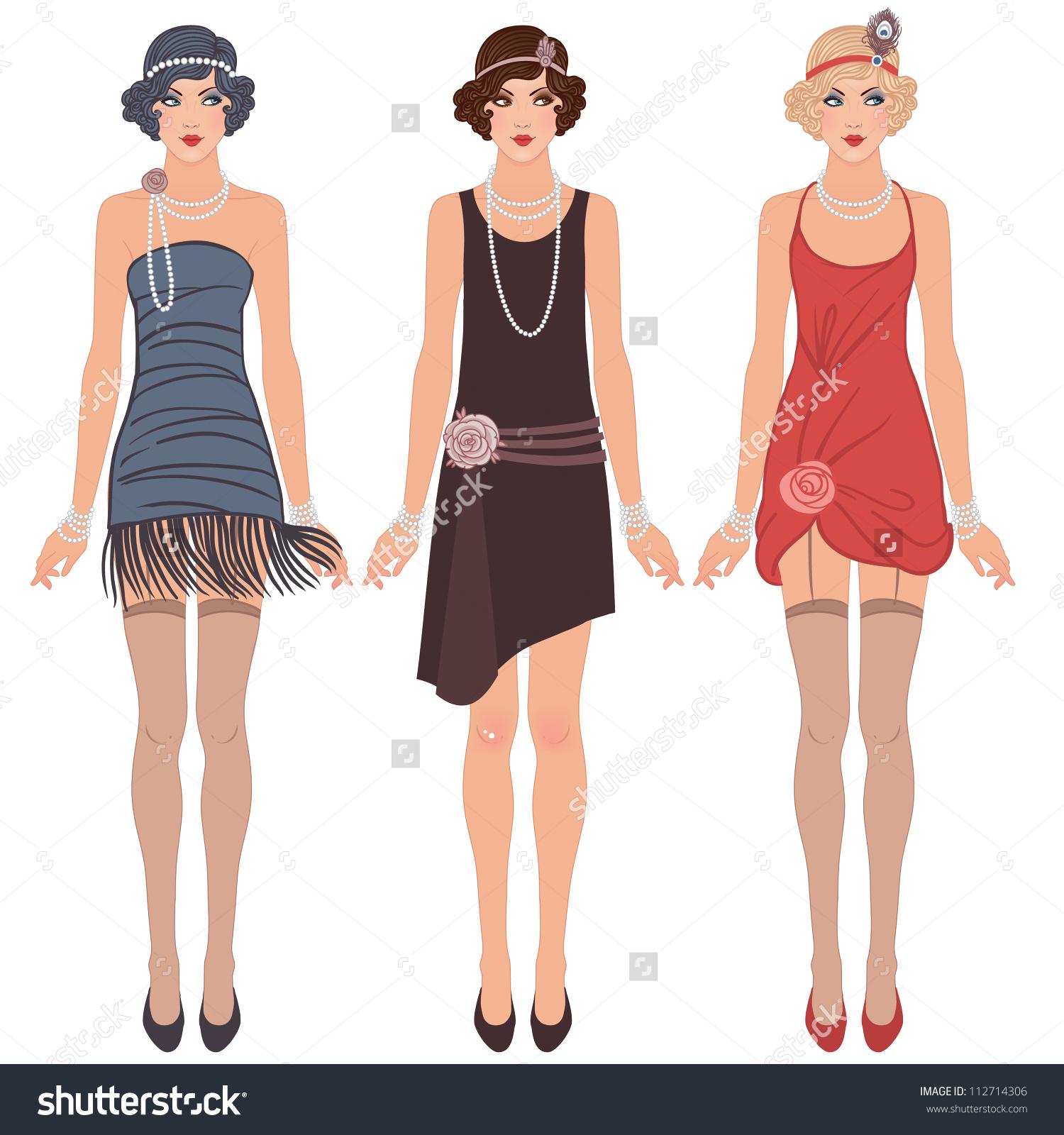 Flapper Dress Clipart (35+).