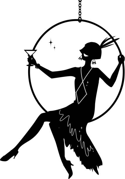 Best Flapper Girl Illustrations, Royalty.