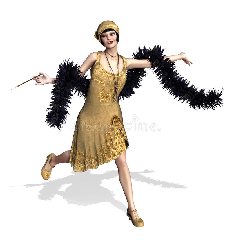 Flapper Stock Illustrations.
