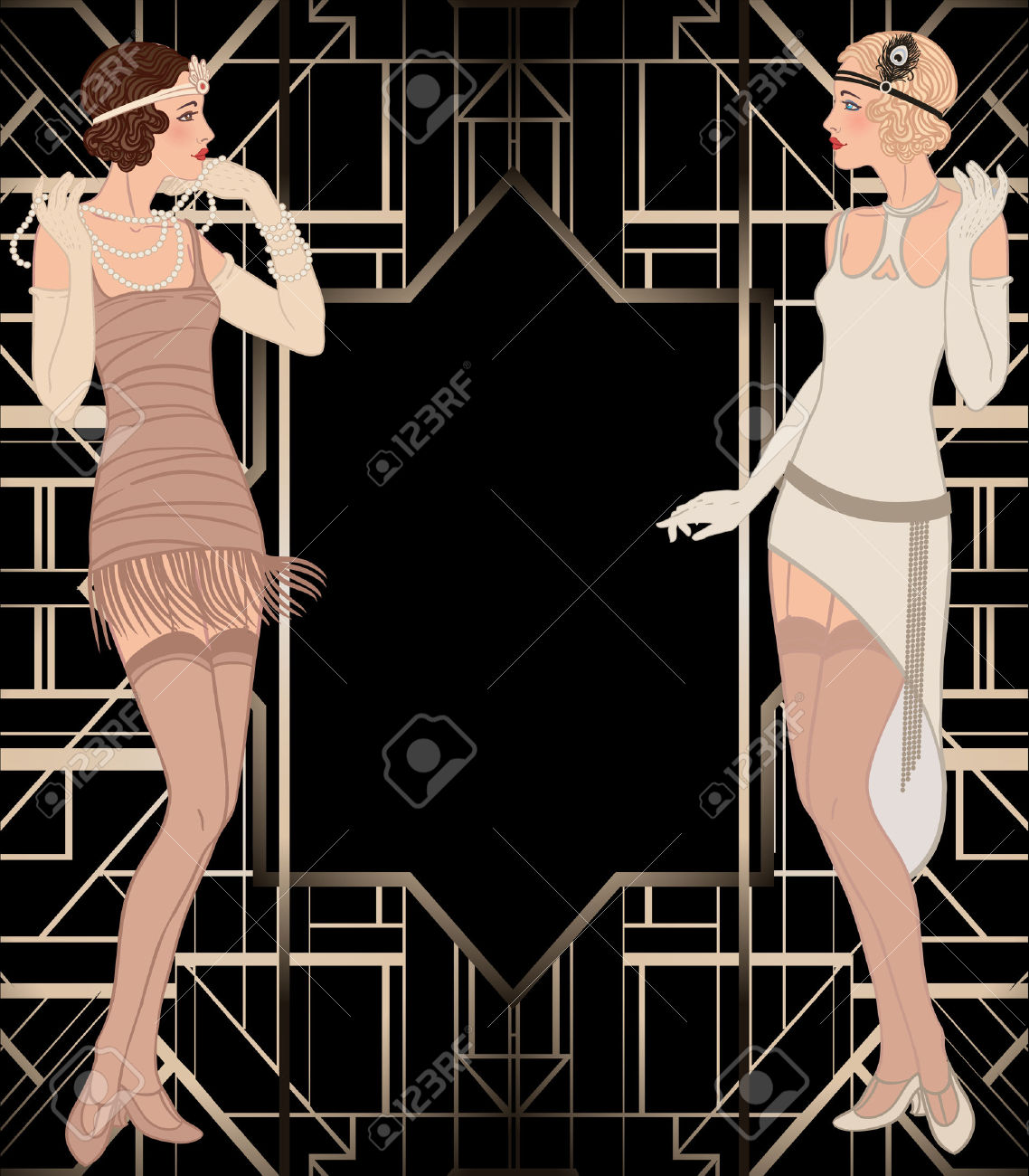 flapper silhouette pattern clipart - Clipground