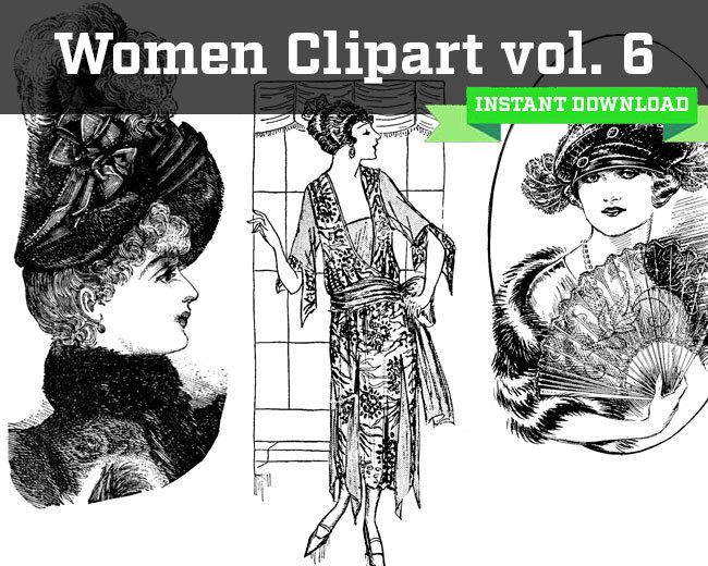 Volume 6 Women Clipart Instant Download.