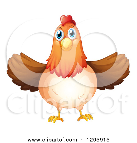 Animated clipart flapping chicken.