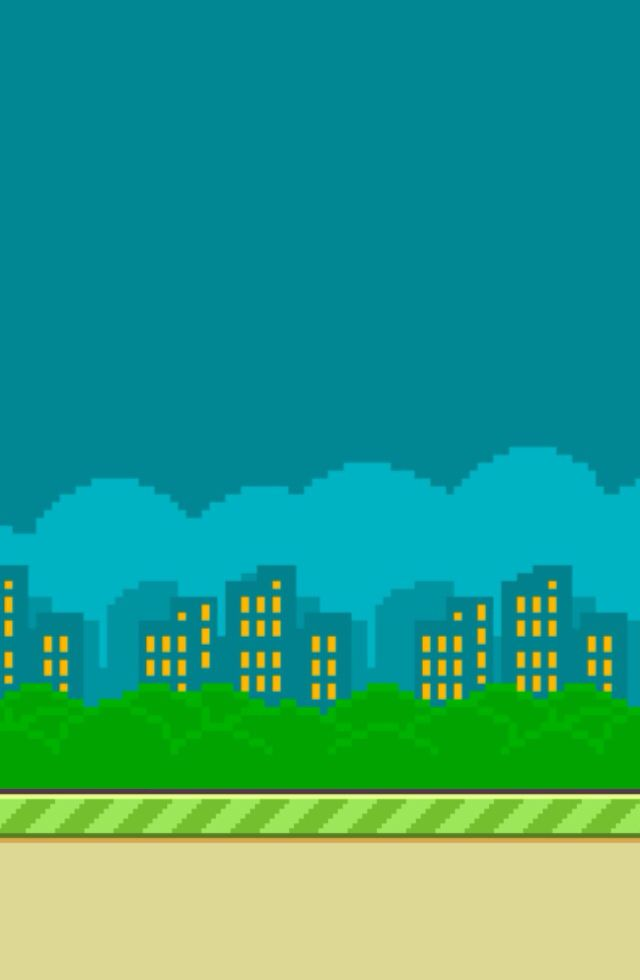 Flappy bird city background. Makes a nice wallpaper..