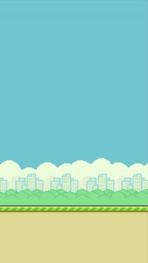 I made a flappy bird game but.