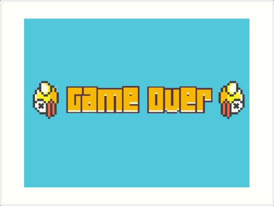'Flappy Bird Game Over' Art Print by EnragedNewb.