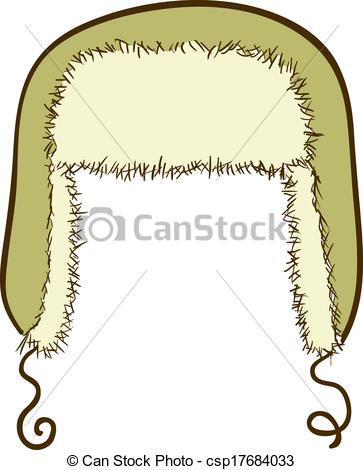Vectors of Vector winter cap with ear.