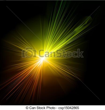 Clip Art Vector of Light flare effect. Vector illustration.
