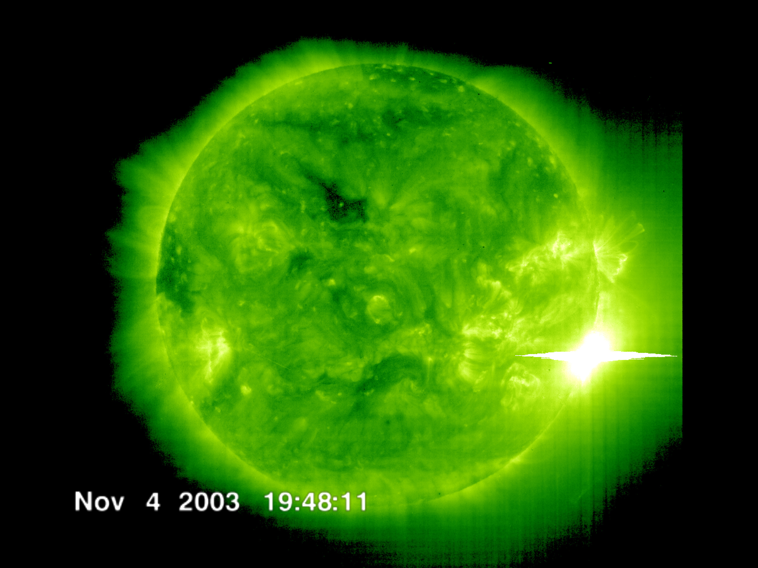 Impacts of Strong Solar Flares.