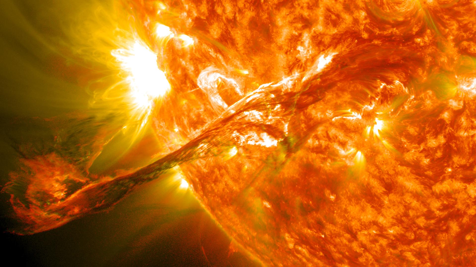 Solar flare.