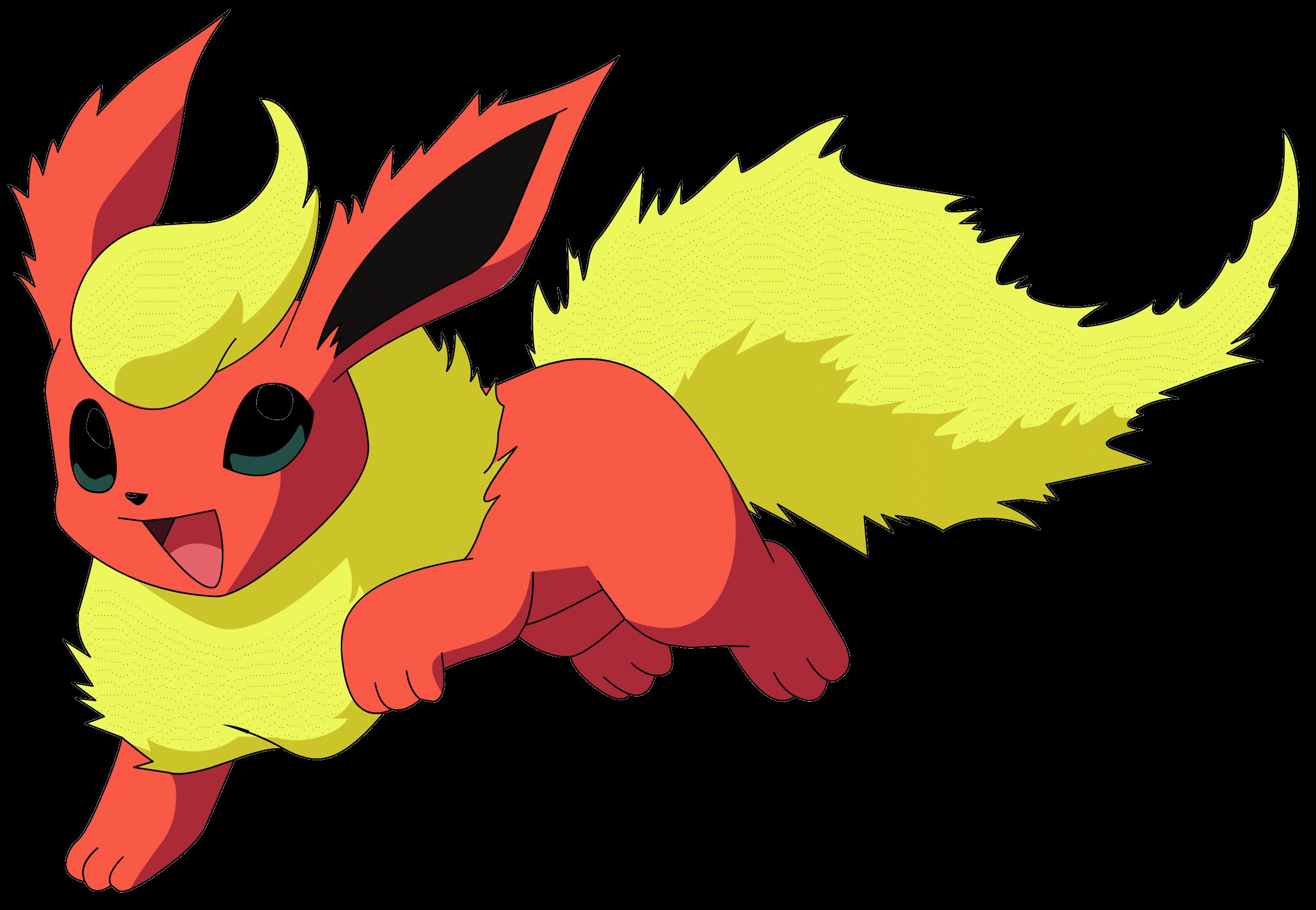 Flareon Pokemon transparent PNG.