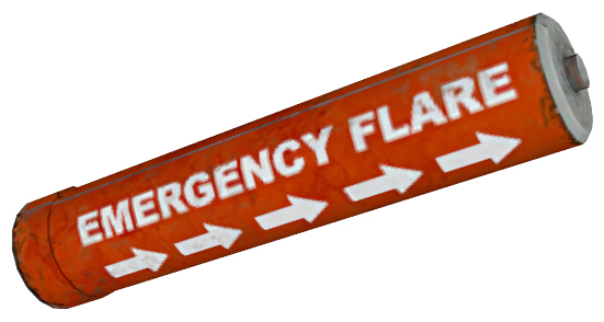 Box of emergency flares clipart.