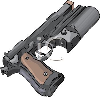 Royalty Free Clip Art Image: Flare Gun.