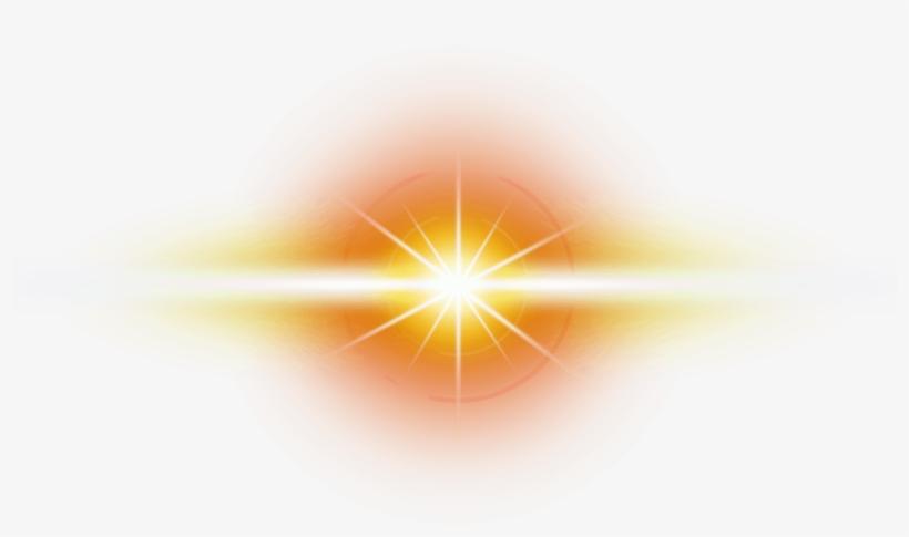 Orange Transparent Optical Flare.