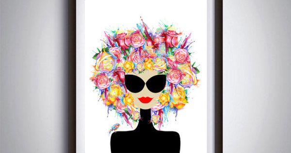 Printable art, Fashion decor, Beauty illustration, Woman print.