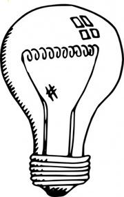 Light Bulb Clip Art, Vector Light Bulb.