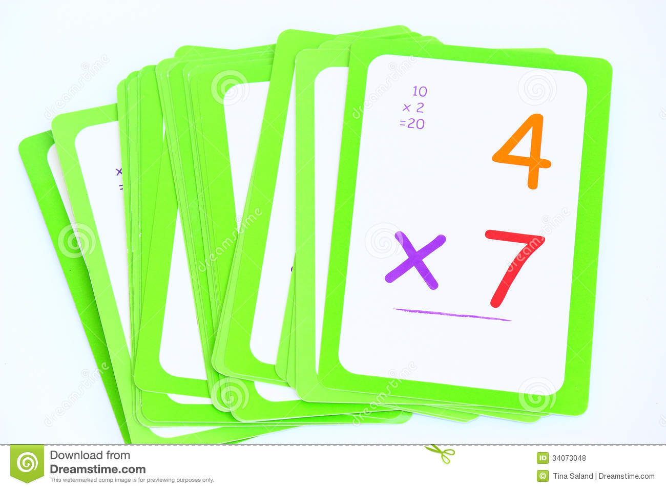 Numbers Flash Cards Set 0.