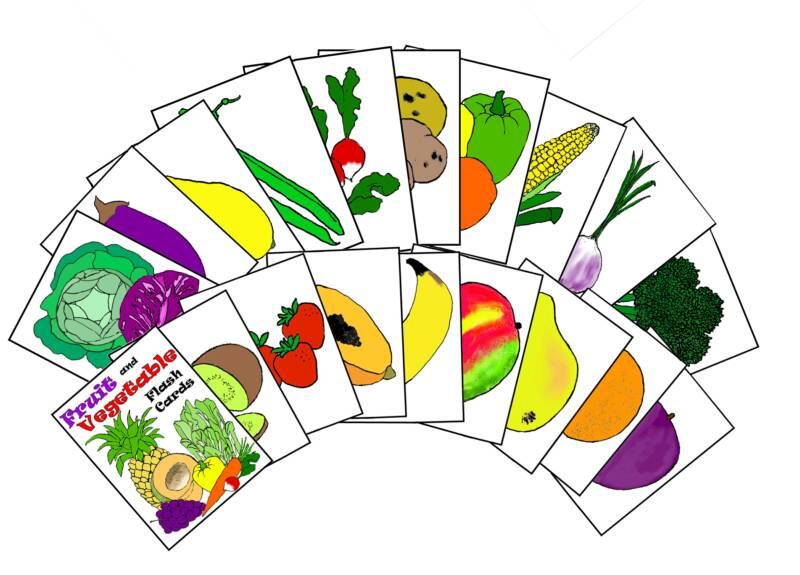 Flash Cards Clipart.