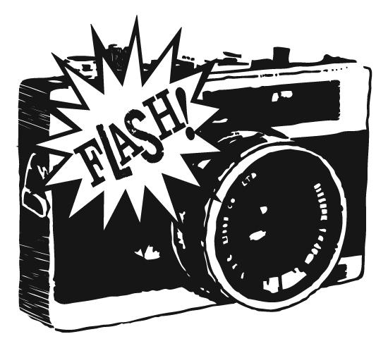 Camera flash clip art.