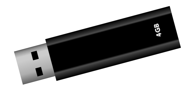 USB flash drive Clipart, vector clip art online, royalty free.