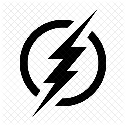 The flash sign Icon.