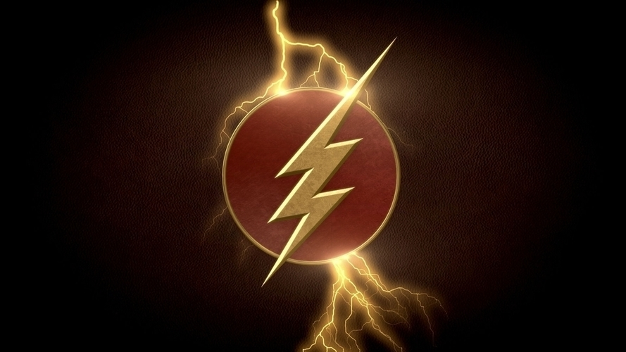 3D Printed The CW Flash logo by jacobthegenius.5.