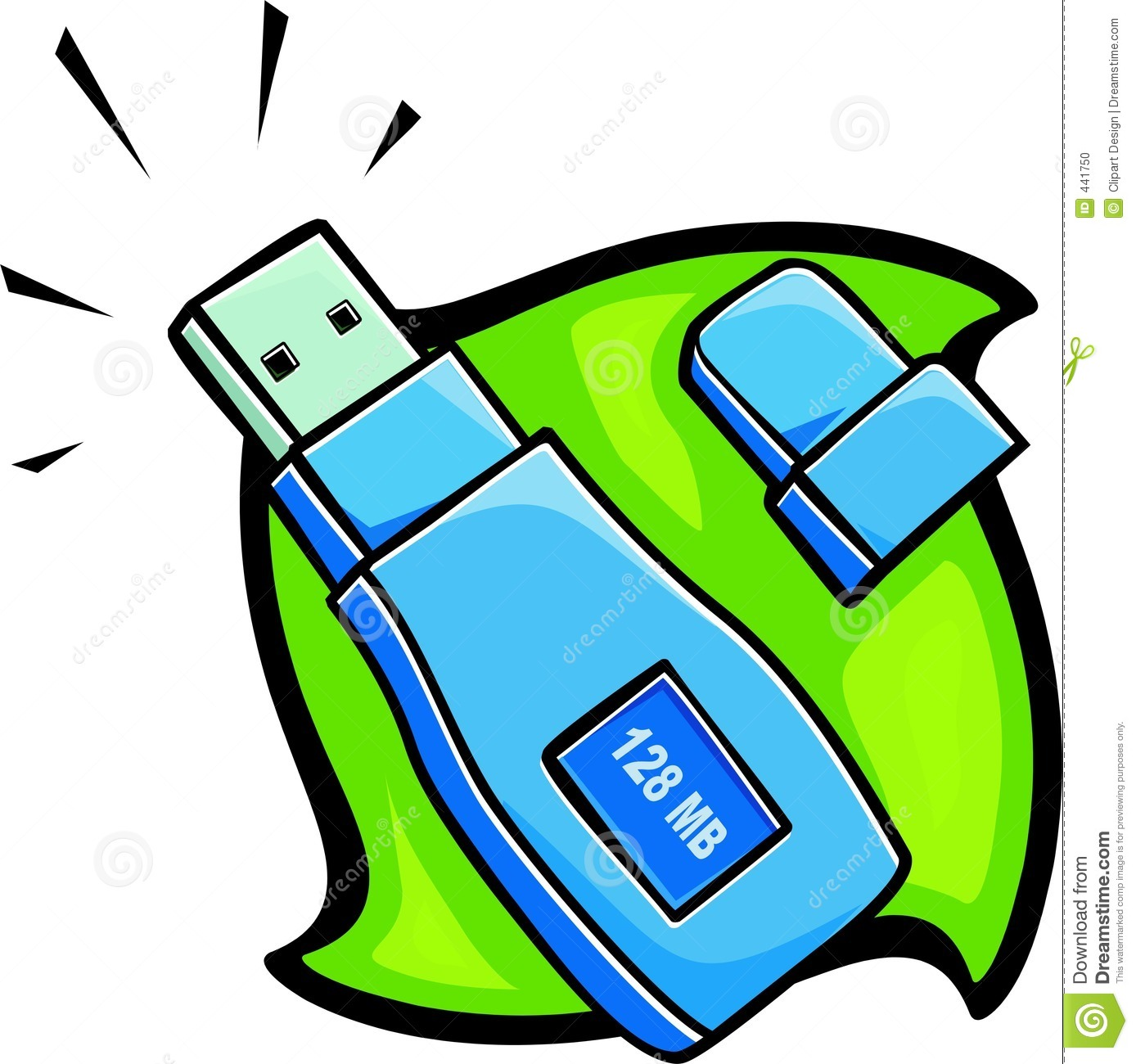Removable USB Drive Stock Photo.