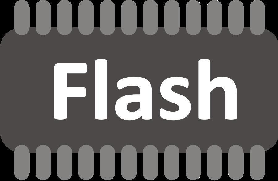 Flash Memory SVG Vector file, vector clip art svg file.