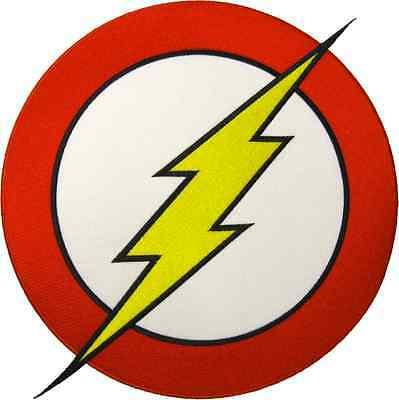 57014 FLASH SUPERHERO DC Comic Logo Hero Bolt Sew Iron On.