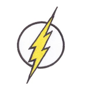 The Flash Superhero Logo Iron On Patch Sew On Transfer.