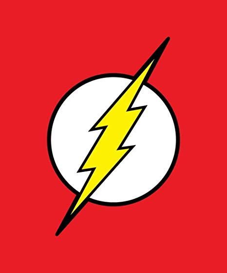 JPI DC Comics Justice League Superhero The Flash Lightning Logo Fleece  Throw Blanket.