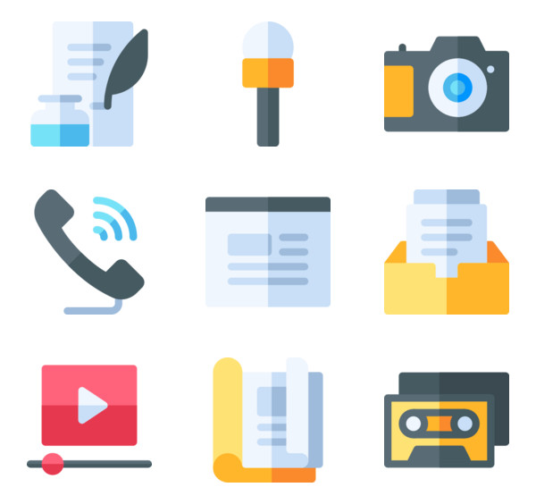 Voice microphone Icons.