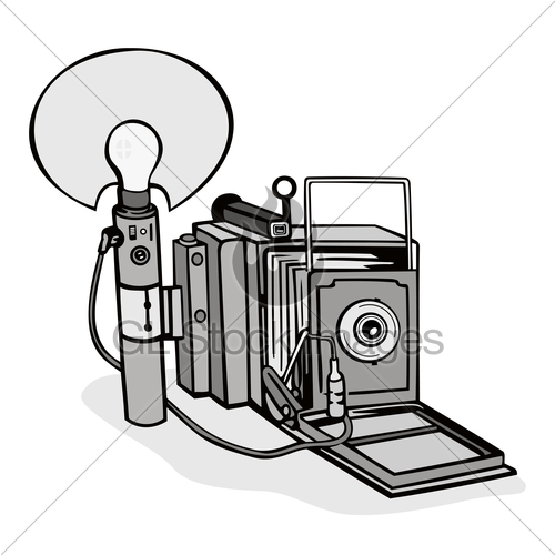 Camera Flash Illustration.