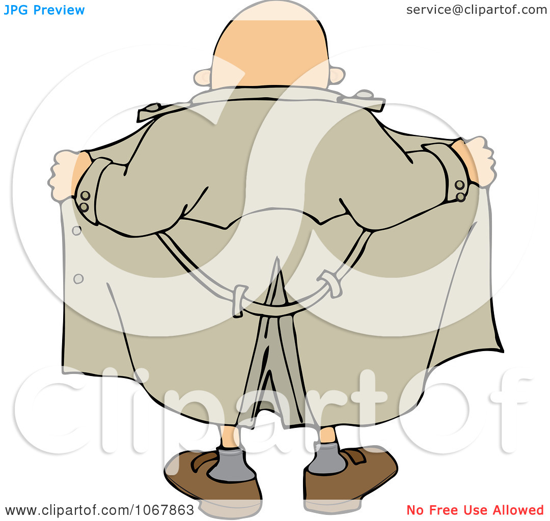 Clipart Flasher Man From Behind.