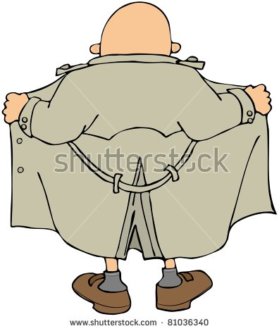 Male Flasher Stock Images, Royalty.