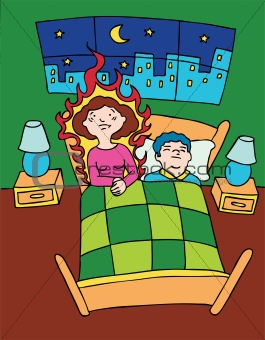 Hot flashes clipart.