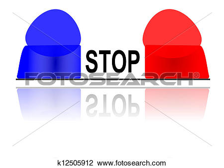 Clipart of The flashing police beacon k12505912.
