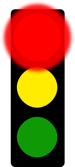 Red Flashing Light Clipart.