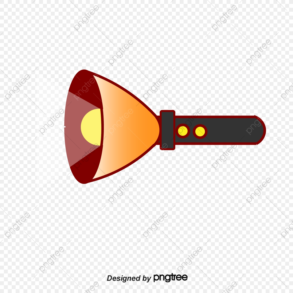 Flashlight And Beam, Flashlight, Beam, Vector PNG Transparent.