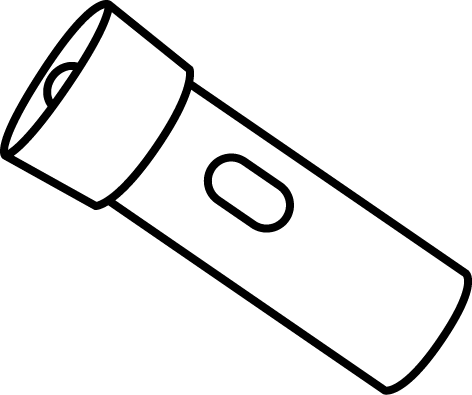 Flashlight Black And White Clipart.