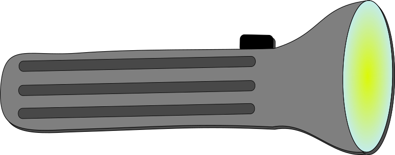Clip Art Flashlight with Batteries.